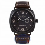 Panerai Radiomir Composite Marina Militare 8 Giorni 47MM Stainless Steel Brown Dial Brown Strap PAM00339 LMCTX2 - Beverly Hills Watch Company Watch Store