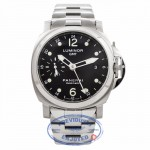 Panerai Luminor GMT Stainless Steel 40MM Black Dial PAM00160 RZPPCS - Beverly Hills Watch Store