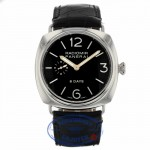 Panerai PAM 190 Radiomir 8 Day Mechanical Wound 45mm Stainless Steel PAM00190 0TXPNN - Beverly Hills Watch Company
