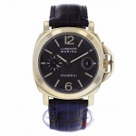 Panerai PAM00140 Luminor Marina 44mm Yellow Gold Carbon Fiber Dial Automatic XLNZ7V