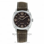 Panerai Radiomir 1940 3 Days Titanium 45MM Brown Dial Brown Leather Strap PAM00619 MN1ECH - Beverly Hills Watch Company Watch Store