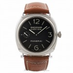 Panerai Radiomir Black Seal 45MM Stainless Steel Brown Leather Strap PAM00183 J9W1NC - Beverly Hills Watch Company Watch Store