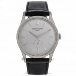 Patek Philippe Calatrava 37MM 18k White Gold Automatic Silver Dial 5196G-001 N7HCXJ - Beverly Hills Watch Company