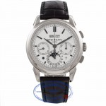 Patek Philippe 18K White Gold Perpetual Calendar Chronograph Moonphase Manual Wind Watch 5270G-001 VJ2H8C