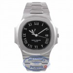 Patek Philippe 3710 Nautilus Stainless Steel Power Reserve Black Dial Automatic Watch 3710/1A-001 - QVPQ3N - Beverly Hills Watch Company Watch Store