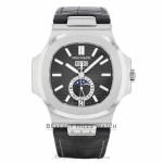 Patek Philippe Nautilus Automatic GMT Moonphase Black Dial Stainless Steel 5726A/001 TFRFCL - Beverly Hills Watch