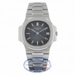 Patek Philippe Nautilus 37mm Stainless Steel Automatic Blue Dial 3800/001 R80Q1Y - Beverly Hills Watch Company
