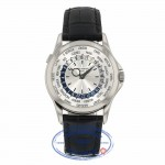Patek Philippe 39.5mm Complications World Time 18k White Gold 5130G-019 4ZAD8J - Beverly Hills Watch