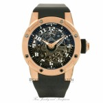 Richard Mille Dizzy Round Big-Date Rose Gold Rubber Strap Double Folding Clasp RM063-01AORG PZDP0K - Beverly Hills Watch
