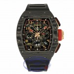 Richard Mille RM011 Rose Gold Trim Carbon Fiber Case NTPT RM011 AOCA NYPT LOTUS F1 TEAM 5P1FTZ - Beverly Hills Watch Company Watch Store