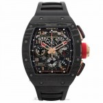 Richard Mille RM011 Rose Gold Trim Carbon Fiber Case NTPT Black Rubber Strap RM011 AO CA NYPT LOTUS F1 TEAM R2HM8T - Beverly Hills Watch Company Watch Store