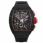Richard Mille RM011 Rose Gold Carbon Fiber NTPT Limited Edition of 3 Black Rubber Strap RM011 AO RG CA NTPT Lotus F1 VLTXAU - Beverly Hills Watch Company Watch Store