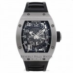 Richard Mille Automatic Titanium Transparent Sapphire Crystal Glareproff Black Rubber Strap RM010 Ti 1X5AR6 - Beverly Hills Watch Company Watch Store