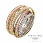 Designs by Naira 18k Tri Colored 7 Layers Ring Diamonds 38144 V8ZEN9 - Beverly Hills Jewelry Store