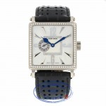 Roger Dubuis Golden Square 34mm 18k White Gold Diamond Bezel GS34 WZ8318 - Beverly Hills Watch