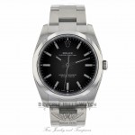 Rolex Oyster Perpetual 34mm Stainless Steel Black Dial 114200 2H6LM5