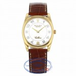 Rolex Cellini Danaos 18k Yellow Gold White Dial Arabic Numerals Brown Leather Strap 4233 8VEJC1 - Beverly Hills Watch Company