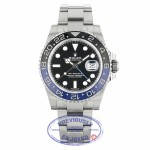 Rolex GMT Master II Bruiser Black/ Blue Ceramic Bezel Stainless Steel 116710BLNR V1A8ZA - Beverly Hills Watch