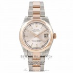 Rolex DateJust 31mm Rose Gold Stainless Steel Pink Champagne Dial 178241 K5JP83