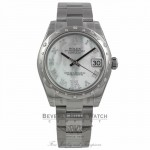 Rolex Lady Datejust 31MM White Gold 24 Diamond Bezel Diamond Mother Of Pearl Dial N5W37M - Beverly Hills Watch Company