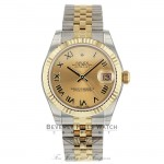Rolex Datejust 31MM 18k Yellow Gold Stainless Steel Jubilee Bracelet 178273 J47U9Y - Beverly Hills Watch Company