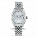 Rolex Datejust 31MM Stainless Steel Silver Dial Diamond Markers Jubilee Bracelet 17824 3R7CXY Beverly Hills Watch