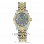Rolex Datejust 31mm Stainless Steel 18k Yellow Gold Diamonds Bezel 178383 0YWZL8 - Beverly Hills Watch
