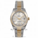 Rolex Datejust 31MM 18k Yellow Gold Stainless Steel Silver Dial 178243 285YWR - Beverly Hills Watch Store