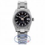 Rolex Datejust Black Index Dial Oyster Bracelet Unisex 178274 M6DL51 - Beverly Hills Watch Company