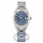 Rolex Datejust 31MM Stainless Steel Blue Dial Roman Numerals Oyster Bracelet 178240 HDH0Y3 - Beverly Hills Watch Company