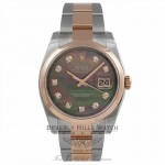 Rolex Datejust Steel and Rose Gold M6536N - Beverly Hills Watch Company Watch Store