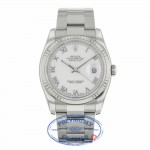 Rolex Datejust 36MM White Roman Dial Oyster Bracelet 116234 5Z5TCA - Beverly Hills Watch Company