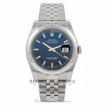 Rolex Datejust 36MM Stainless Steel Blue Dial 116200 AGXVXX - Beverly Hills Watch Company Watch Store