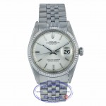 Rolex DateJust Stainless Steel Jubilee Bracelet Silver Index Dial 1601 64M8UQ - Beverly Hills Watch Company