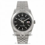 Rolex Datejust 36MM Stainless Steel Black Dial 116200 - Beverly Hills Watch Company Watch Store