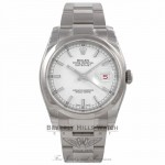 Rolex Datejust 36MM Stainless Steel Domed Bezel White Dial 116200 YXA1HA - Beverly Hills Watch Company Watch Store