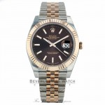 Rolex Datejust 41mm Chocolate Dial Steel 18K Everose Gold Jubilee 126331 2QXM9Z - Beverly Hills Watch Company