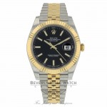 Rolex Datejust 41mm Stainless Steel 18k Yellow Gold Black Dial 126333 HA0RL6 - Beverly Hills Watch