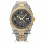Rolex Datejust 41mm Rhodium Dial Automatic Stainless Steel and 18k Yellow Gold Oyster Bracelet 126303 WZHW5F - Beverly Hills Watch