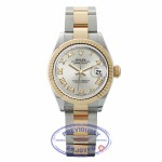Rolex Datejust 28mm Stainless Steel 18k Yellow Gold Silver Dial Yellow Gold Roman Numerals 279173 ZMTL9J - Beverly Hills Watch