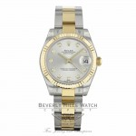 Rolex Datejust 31MM Stainless Steel 18k Yellow Gold Silver Diamond Dial Oyster Bracelet 178273 8P860N - Beverly Hills Watch