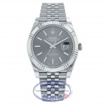 Rolex Datejust 41mm 18k White Gold Stainless Steel  Jubilee Bracelet 126334 Q0H7E0