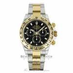 Rolex Cosmograph Daytona 40mm Stainless Steel 18K Yellow Gold Oyster 2017 Edition 116503 99X9N2 - Beverly Hills Watch