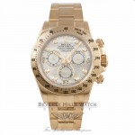 Rolex Daytona Yellow Gold Oyster Bracelet Mother of Pearl Diamond Dial 40mm Automatic Chronograph Watch 116528 - AYXM25 - Beverly Hills Watch Company Watch Store