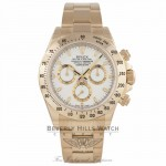 Rolex Daytona 18K Yellow Gold White Dial Stick Markers 116528 P8WKVD - Beverly Hills Watch Company Watch Store