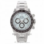 Rolex Daytona Platinum Brown Cerachrom Bezel Ice Blue Dial 116506 2JQUW4 - Beverly Hills Watch Company Watch Store