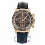 Rolex Cosmograph Daytona Black Dial 18K Rose Gold Automatic 116515LN EUEM6X - Beverly Hills Watch