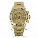 Rolex Oyster Perpetual Cosmograph Daytona Yellow Gold Champagne Dial 116508 6272Y1 - Beverly Hills Watch