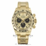 "Rolex Oyster Perpetual Cosmograph Daytona ""Paul Newman"" 2017 Yellow Champagne Dial Black Sub-dials 116508 NJFK6J - Beverly Hills Watch"