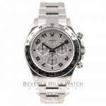 Rolex Daytona White Gold Pave Diamond Enamel Arabic Watch 116505 Beverly Hills Watch Company Watches